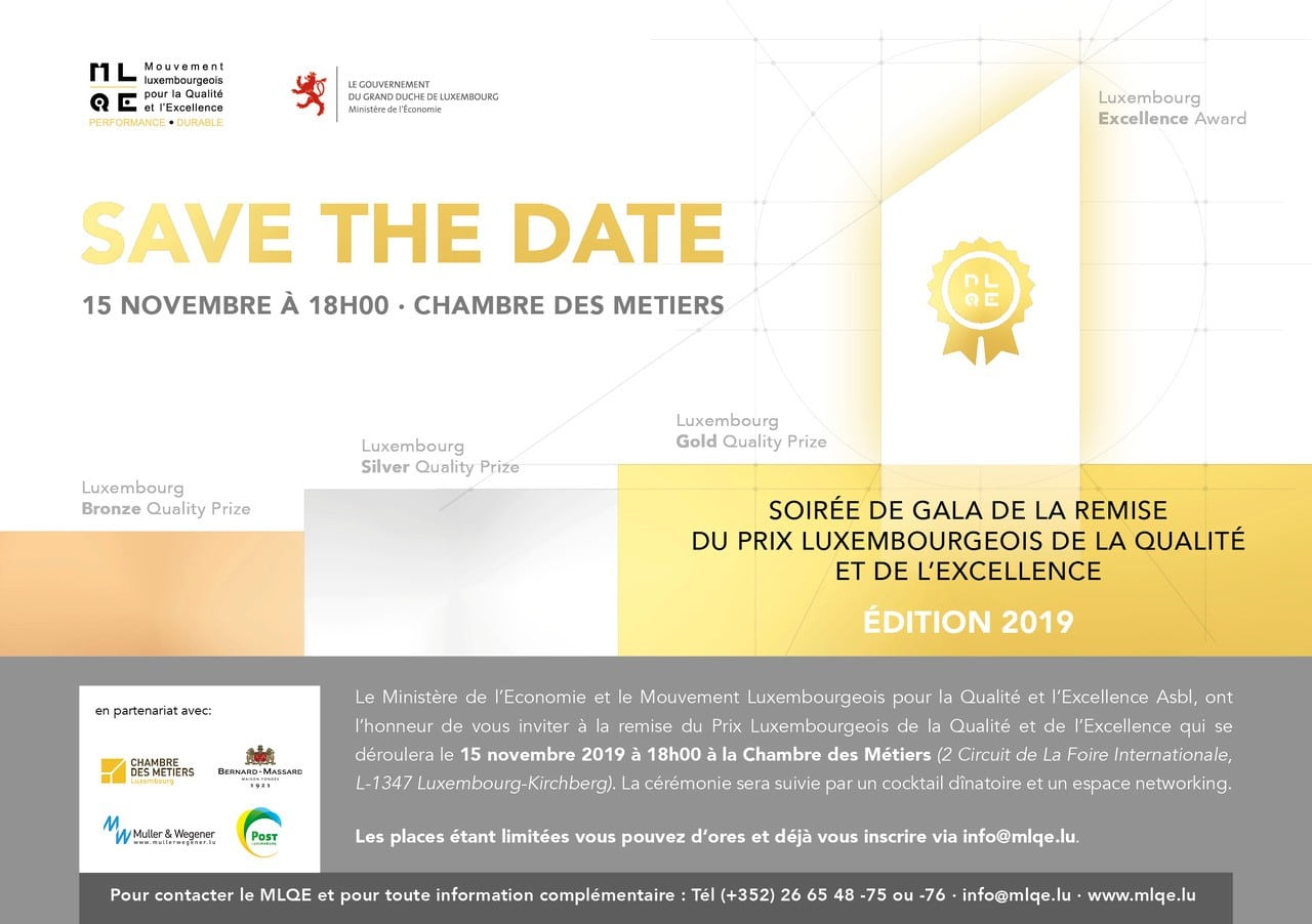 Save the date Gala PLQE 2019